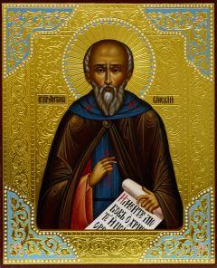 Рукописная икона Антоний Сийский 2