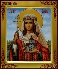 Рукописная икона царица Тамара 2