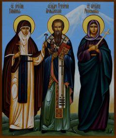 Рукописная икона Григорий Армянский, Рипсимия, Гаиания