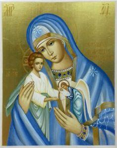 Рукописная икона Скорбящая о младенцах