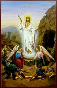 Рукописная икона Воскресение Христово 4