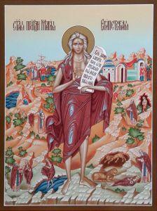 Рукописная икона Мария Египетская с Житиями 3