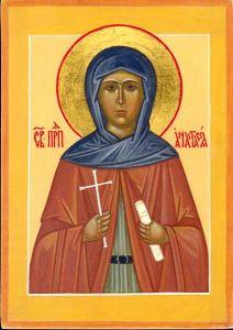 Рукописная икона Анастасия Патрикия