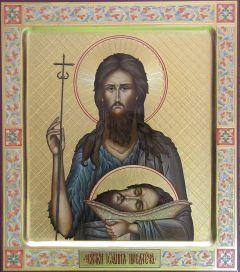 Рукописная икона Иоанн Предтеча 6