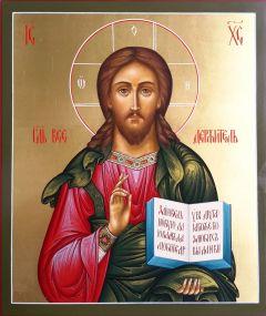 Рукописная икона Спас Вседержитель 12