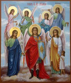 Рукописная икона Собор Архангела Михаила 2