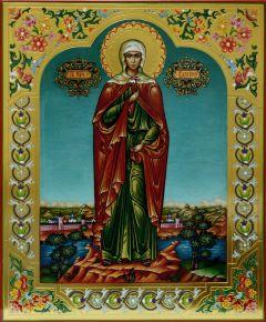 Рукописная икона Валерия Калерия 2 (Размер 20*24 см)