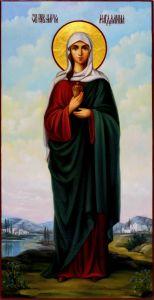 Рукописная икона Мария Магдалина масло 4 (Размер 13*25 см)