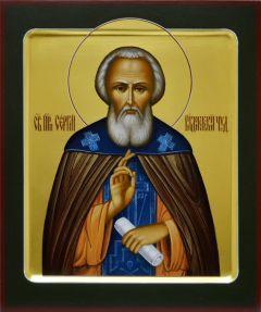 Рукописная икона Сергий Радонежский 4