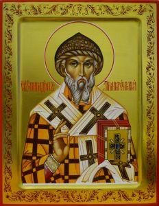 Рукописная икона Спиридон Тримифунтский 7
