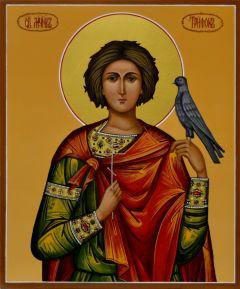 Рукописная икона святой Трифон 4