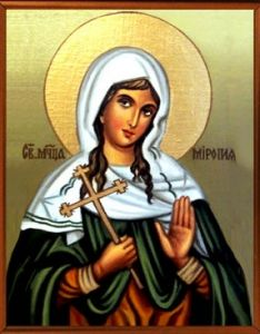 Рукописная икона Миропия Хиосская