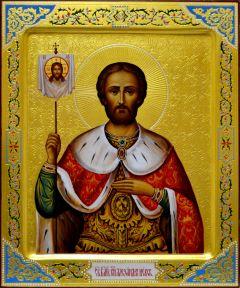 Рукописная икона Александр Невский 7 (Размер 21*25 см)