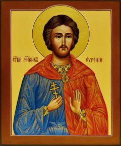 Рукописная икона Евгений Мелитинский (Размер 17*21 см)