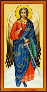 Рукописная икона Ангел Хранитель 23 (Размер 13*25 см)