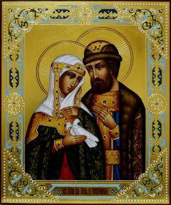Рукописная икона Святых Петра и Февронии Муромских 36