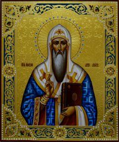 Рукописная икона Алексий Московский 2