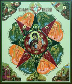 Рукописная икона Неопалимая Купина 6