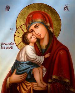 Рукописная икона Донская масло