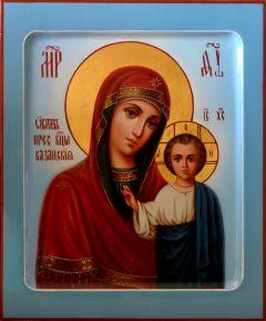 Рукописная икона Казанская масло 14
