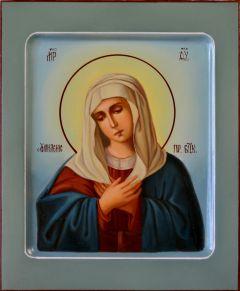 Рукописная икона Умиление масло 6