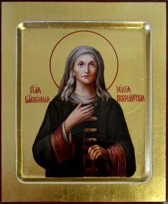 Рукописная икона Ксения Петербургская масло