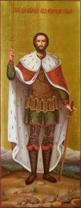 Мерная икона Александр Невский масло