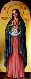 Рукописная икона Помощница в родах масло