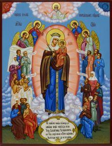 Рукописная икона Всех скорбящих радость 4