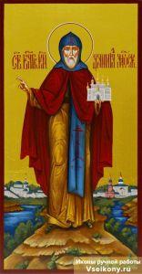 Рукописная икона Даниил Московский 2 (Размер 13*25 см)