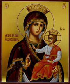 Рукописная икона Всеблаженная