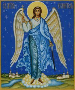 Рукописная икона Ангел Хранитель 15