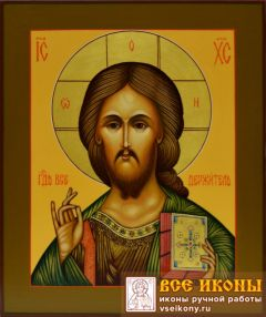 Рукописная икона Спас Вседержитель 21