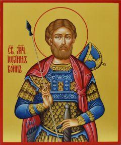 Рукописная икона Иоанн Воин
