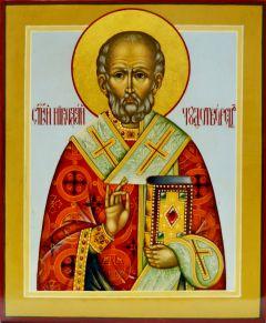 Рукописная икона Николай Чудотворец под старину 18