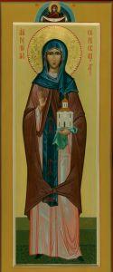 Рукописная икона Ангелина Сербская