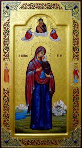 Мерная икона Анна праведная с камнями
