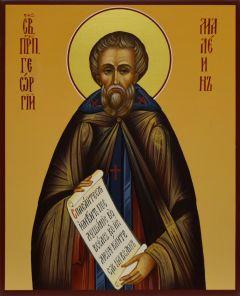 Рукописная икона Георгий Малеин Пелопонесский