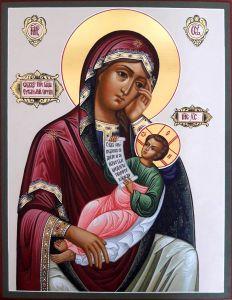 Рукописная икона Утоли моя печали 3