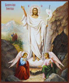 Рукописная икона Воскресение Христово 7 (Размер 21*25 см)
