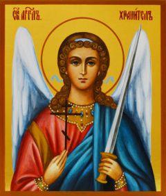 Рукописная икона Ангел Хранитель для ребенка 25