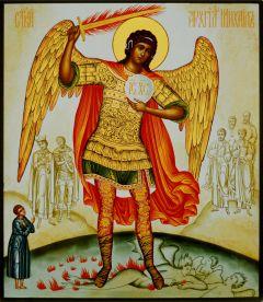 Рукописная икона Архангел Михаил 12 (копия иконы Симона Ушакова 1676г)