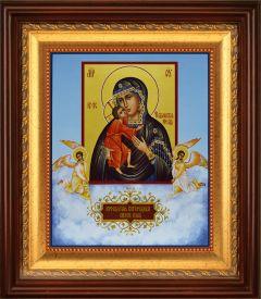 Рукописная икона Феодоровская с Ангелами (Размер 17*21 см)