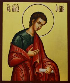 Рукописная икона Апостол Фома