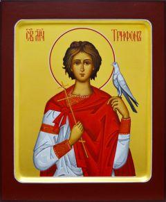 Рукописная икона мученик Трифон 6