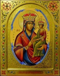 Рукописная икона Споручница грешных 4