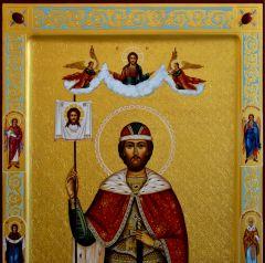 Мерная икона Александр Невский с резьбой 4