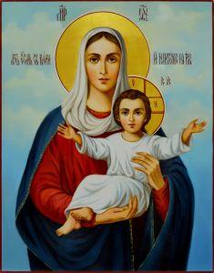 Рукописная икона Леушинская 3 масло