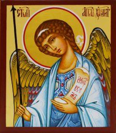 Рукописная икона Ангел Хранитель миниатюра
