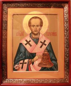 Рукописная икона Павлин Милостивый